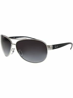 Ray-Ban Men's Gradient Active RB3386-003/8G-63 Silver Round Sunglasses