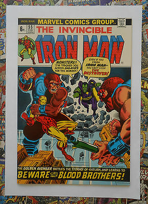 IRON MAN #55 - FEB 1973 - 1st THANOS APPEARANCE! - NM- (9.2) INVESTMENT GRADE!
