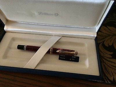 Pelikan M320 Ruby Red Limited Production FP NOS  Broad Nib