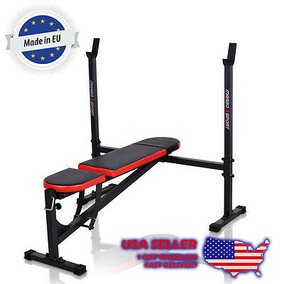 Marbo Sport Lifting Bench With Integrated Adjustable Racks Incline Flat Decline