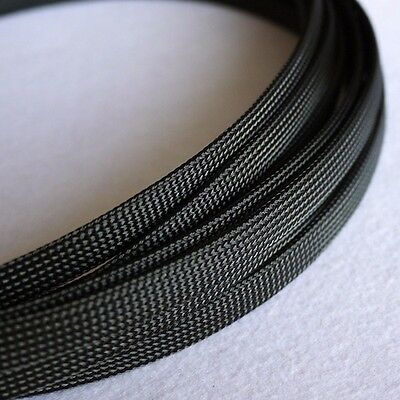 5 meters Black High Densely 10mm TIGHT Expanding Matte Braided Sleeving Cable