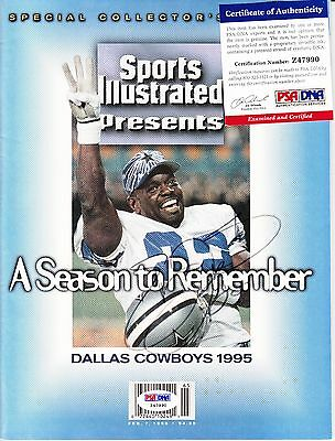 Emmitt Smith Sports Illustrated Autograph Auto Psa Dna Certified Authentic