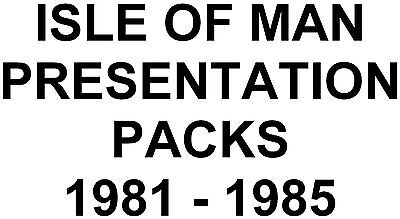 Isle of Man Manx Presentation Packs 1981 to 1985