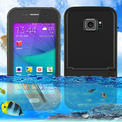Black Waterproof Shockproof Heavy Duty Hard Case Cover For Samsung Galaxy S6 AU