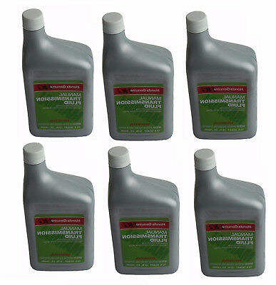 6 Genuine Manual Transmission Fluid Bottles 1 Quart Container for Acura Honda HG