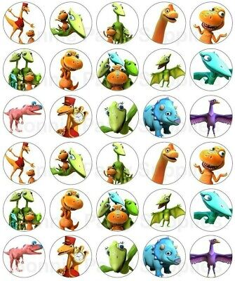 30 x  Dinosaur Train Edible Wafer Cupcake Toppers