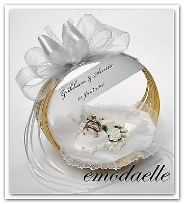 wedding ring cushion pillow with rings holder box Basket for wedding ( 30 color)