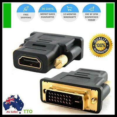 High Quality DVI D Male to HDMI Female Converter Socket Adapter Plug Computer TV
