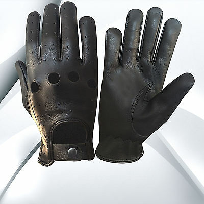 Top Quality Real Soft Leather Men's Unlined Driving Gloves