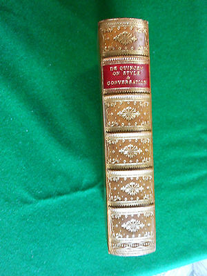 QUINCEY, Thomas de. On Style and Conversation. A Series of Essays. 1862.