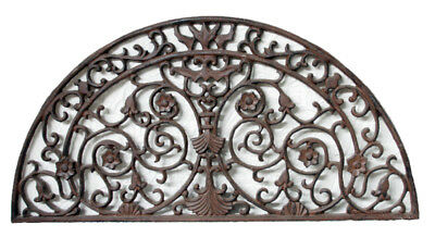 CAST IRON Doormat HALF CIRCLE Design Stunning QUALITY 89cm x 46cm Door Mat Metal