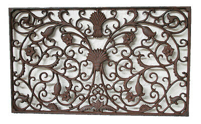 CAST IRON Doormat X Large Rectangle 'GRANDE' Solid QUALITY 89cm x 56cm STUNNING