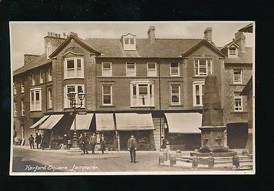 Wales Cardiganshire LAMPETER Harford Square c1920/30s? RP PPC by Kingsway