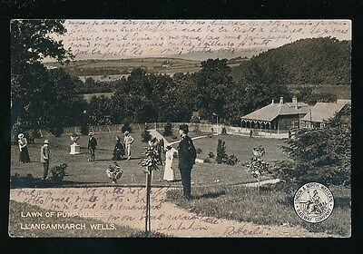 Wales Breckonshire Llangammarch Wells Pump House croquet L&NW official 1905 PPC