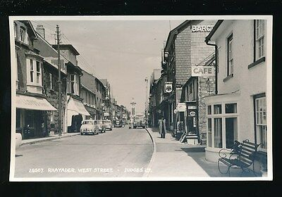 Wales Radnorshire RHAYADER West St 1960s Judges RP PPC