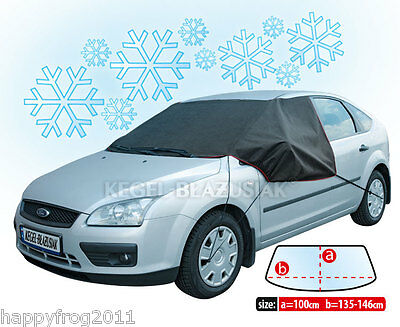 Car Vehicle ANTI_FROST COVER for windscreen windshield WINTER PLUS MAXI black