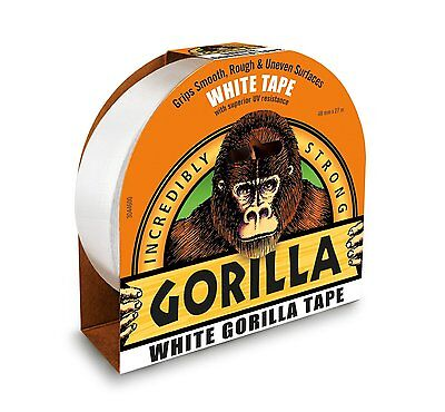 WHITE Gorilla Tape 27m x 48mm Ultra tough & Wide Adhesive Duct Gaffer Tape 1667