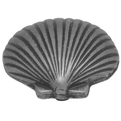 Hickory PA0112-VP South Seas Beach Shell Cabinet Knob Pull, Vibra Pewter Grey