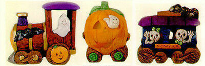 Ceramic Bisque Ready to Paint Large Halloween Train (3) clipin lights included
