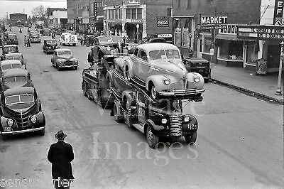 Vintage  General Motors Truck Car & Auto carrier photo late 1930s-1940s