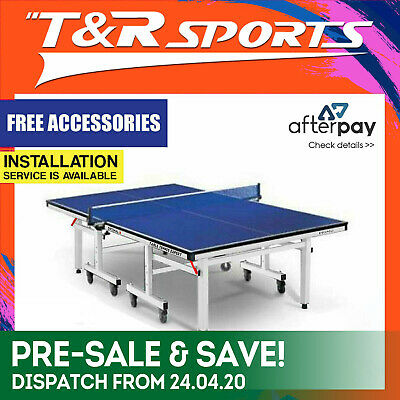 16Mm Table Tennis / Ping Pong Table + Free Bat+Net+Cover Free Syd Mel Bne Post