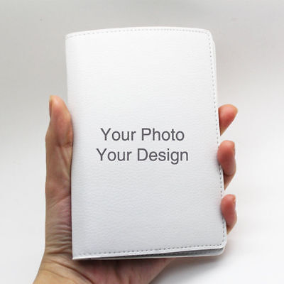 Custom Personalised Faux Leather Passport Holder Case Wallet Cover Your Photo