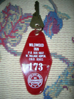 Vintage Hotel Room Key Wildwood Inn Aspen Colorado Room 173 Mid 1970's Exc Cond!