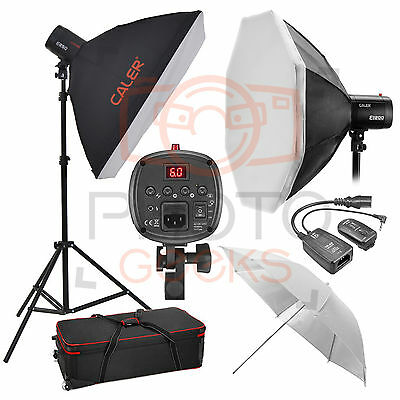 Flash Lighting Kit - 500w (2x250w) JINBEI Studio Strobe Photography Softbox Set