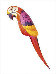 116cm inflatable parrot Hawaiian pirate Amazon Jungle party decoration