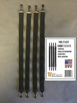 Military Shirt Stays 4-Pack s / t New