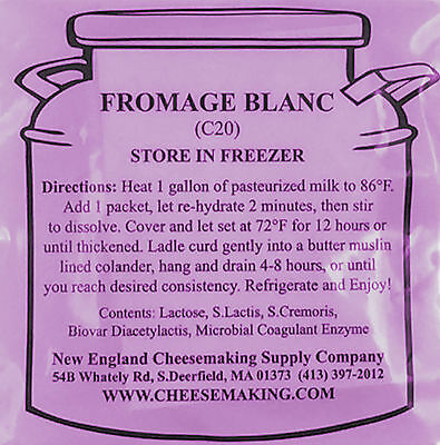 Fromage Blanc Direct Set Cheese Culture, 5-Pack
