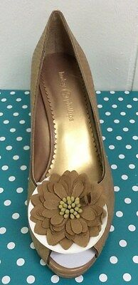 Lindsay Phillips Courtney Tan Python Wedge Shoes Sandal New With Original Box
