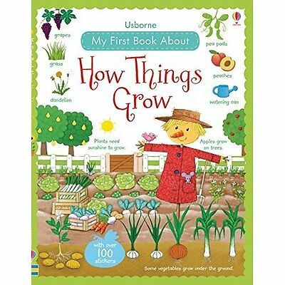 My First Book About How Things Grow Brooks Bonnet Usborne Hardback 9781409593591