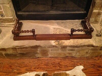 Victorian Barley Twist Fireplace Fender Expandable