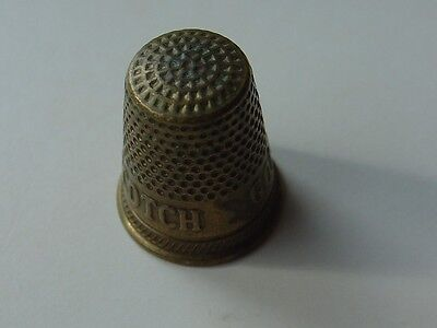 Vintage Advertising Scotch Gold Thimble