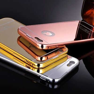 Luxury Ultra Thin Aluminium Metal Mirror Case Cover For Apple iPhone 5 5S 5 SE