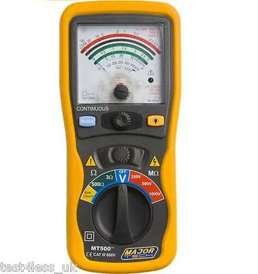 Major Tech MT500 Analogue Insulation Tester + Cal Voucher **NEW**