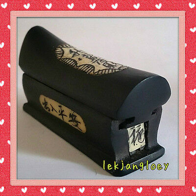 Mini Feng Shui Casket Coffin Chinese Funeral Wood Kuan Cai For Wealth Good Luck