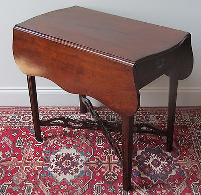 18Th Century Chippendale Cherry Pembroke Table- Eliphalet Chapin Connecticut