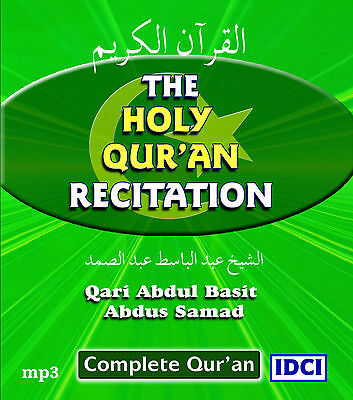 Complete Holy Qur'an Recitation on mp3 CD x 2 CD's for 99p - free UK delivery