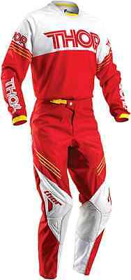 Thor MX Phase Hyperion Red White Jersey & Pant Combo Set ATV/BMX/MTB Riding Gear