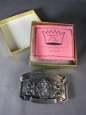 Firemens Centennial Hudson NY LTD ED Numbered Belt Buckle 1992 NEW Original Box