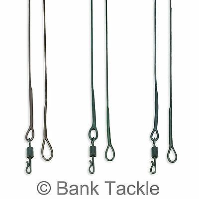 Lead Free Leaders 100cm Size 8 Quick Change Swivel Green Brown and Black (JZQ)