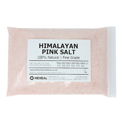 HIMALAYAN PINK SALT | 1KG BAG | FINE | 100% Natural | Food/Cosmetic