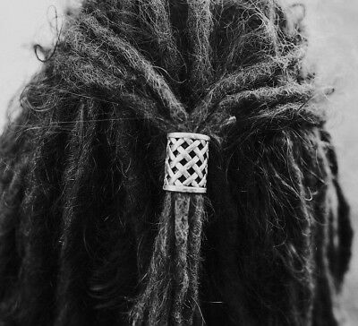 2 XL Tibetan Silver Weave Dreadlock Beads Dread Tie Large 17mm Hole (0.67 Inch)