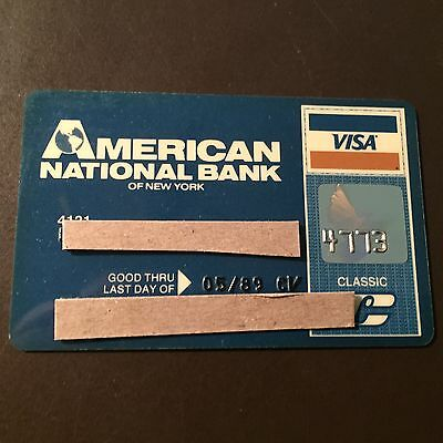 American National Bank of New York 1989 Vintage Collectors Visa Credit Card