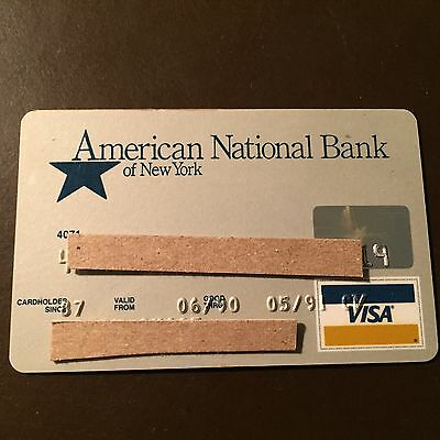 American National Bank of New York 1990 Vintage Collectors Visa Credit Card