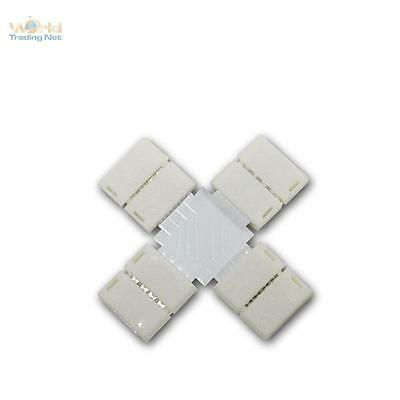 10 X-Connector/Cross Connector for RGB SMD LED Stripe Bows Direct Connector