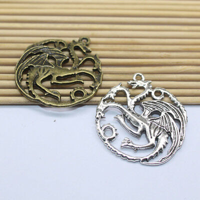 4/20pcs Exquisite fashion design of Tibetan silver Fantasy dragon charm pendant