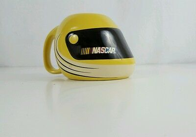 NASCAR Helmet Shaped Yellow Coffee Mugs Cups (2004) Racing Novelty Collectible